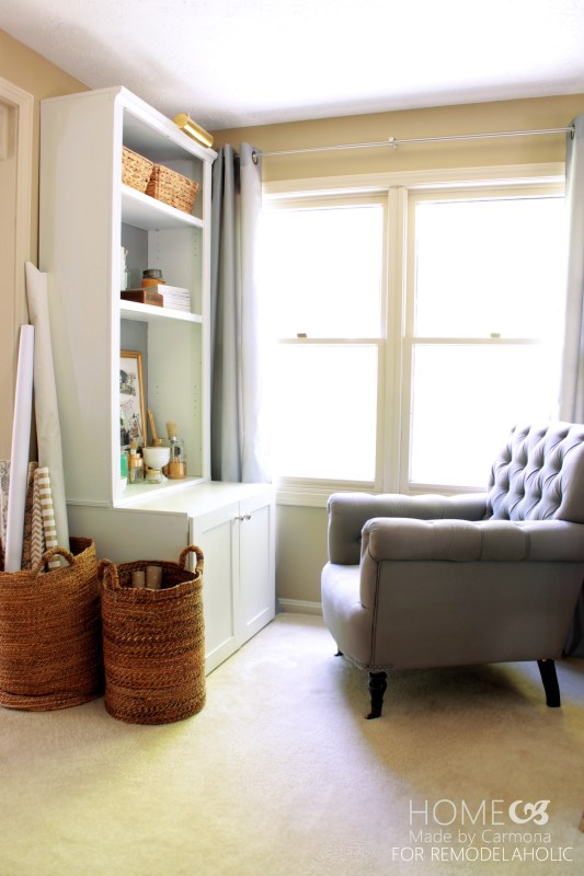 DIY Bookcase Hutch - Home Made by Carmona for Remodelaholic