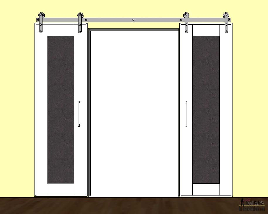 Combine two fun home decor trends sliding barn doors and chalkboards. Build DIY sliding  sc 1 st  Remodelaholic & Remodelaholic | DIY Double Sliding Doors with Chalkboard