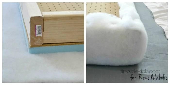 DIY Upholstered Headboard Tutorial - TinySidekick.com for Remodelaholic