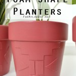 DIY foam shape planters tutorial on for my love of blog