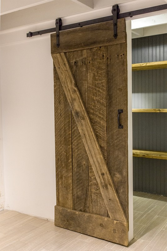 DIY rustic barn door and sliding hardware - Jenna Sue Design