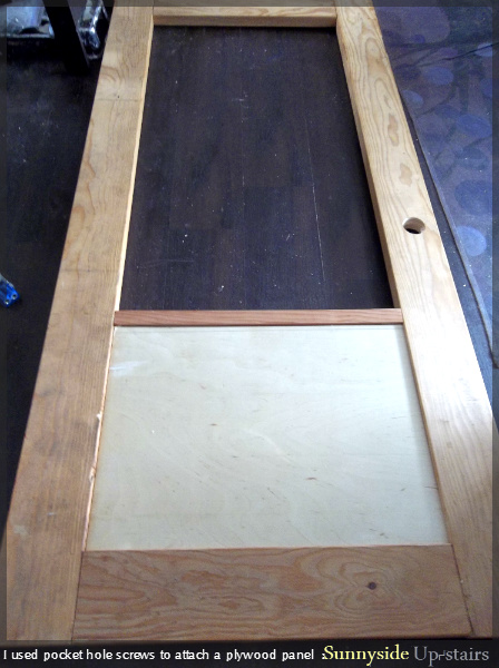 Remodelaholic Building A Frosted Glass Pane Door