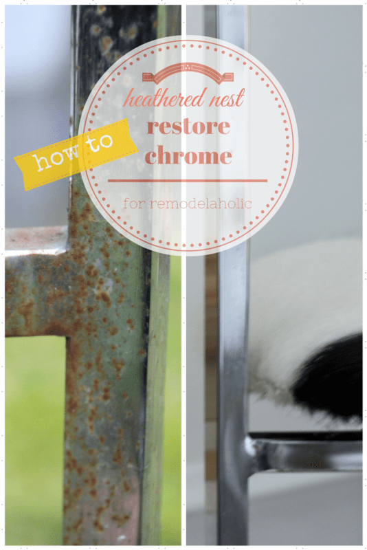So easy! Quickly remove rust from chrome to restore a chair (or anything else) | Remodelaholic.com