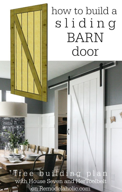 Sliding Barn Door Building Plan on @Remodelaholic