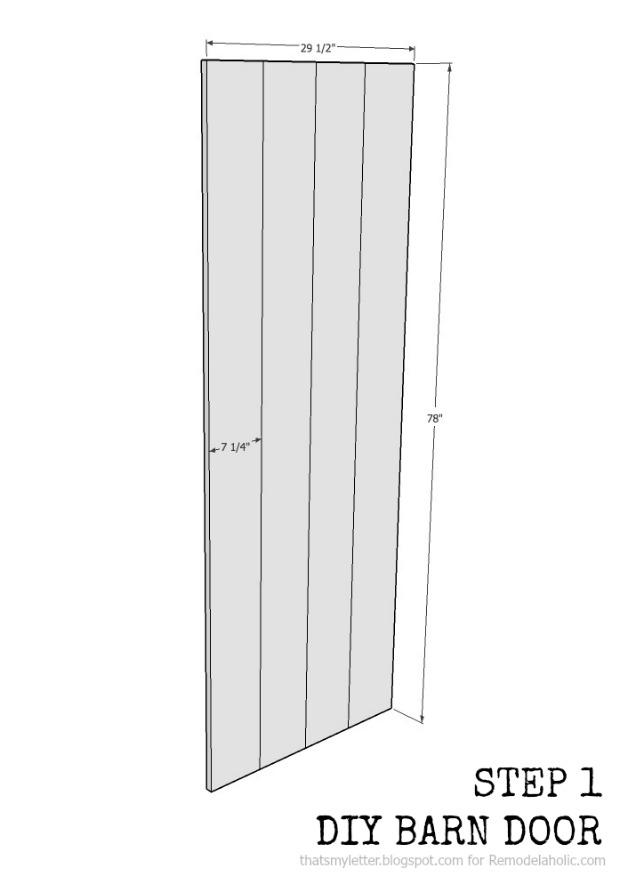 Build an easy DIY sliding barn door
