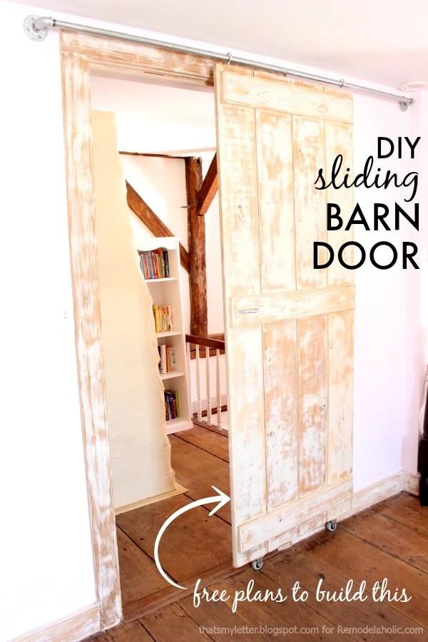 Build An Easy DIY Sliding Barn Door    Just 2 Steps To Build It!