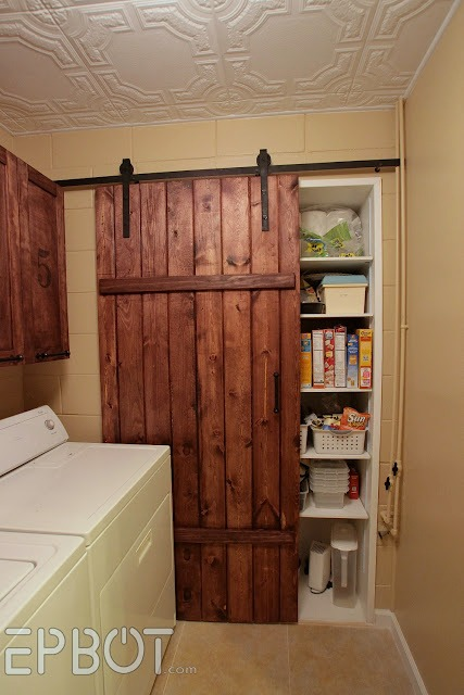 diy barn door and rolling track for pantry - epbot