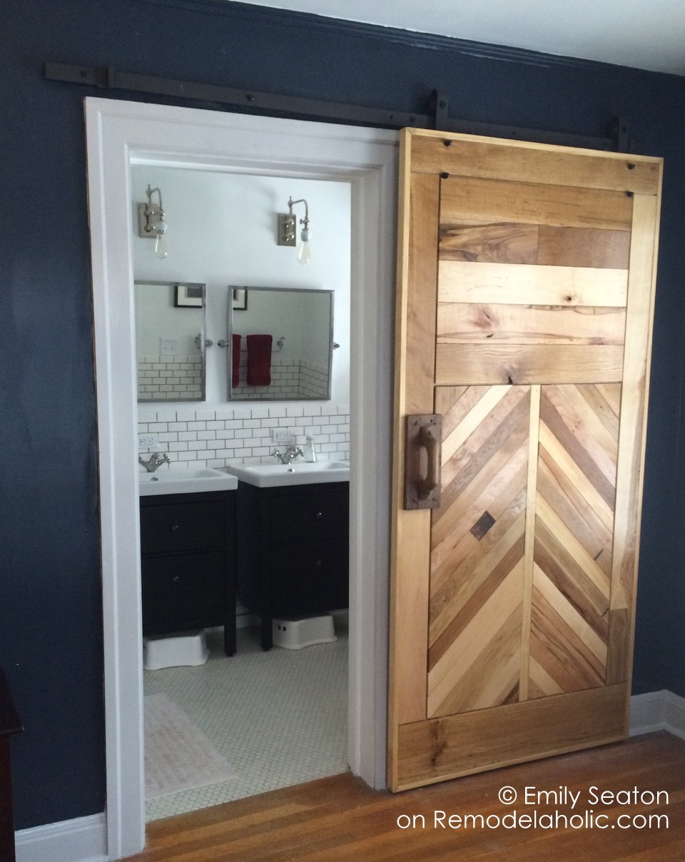 Remodelaholic How To Build A Wood Chevron Barn Door