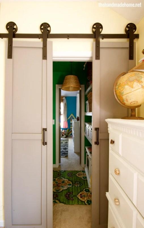 diy double barn doors - The Handmade Home