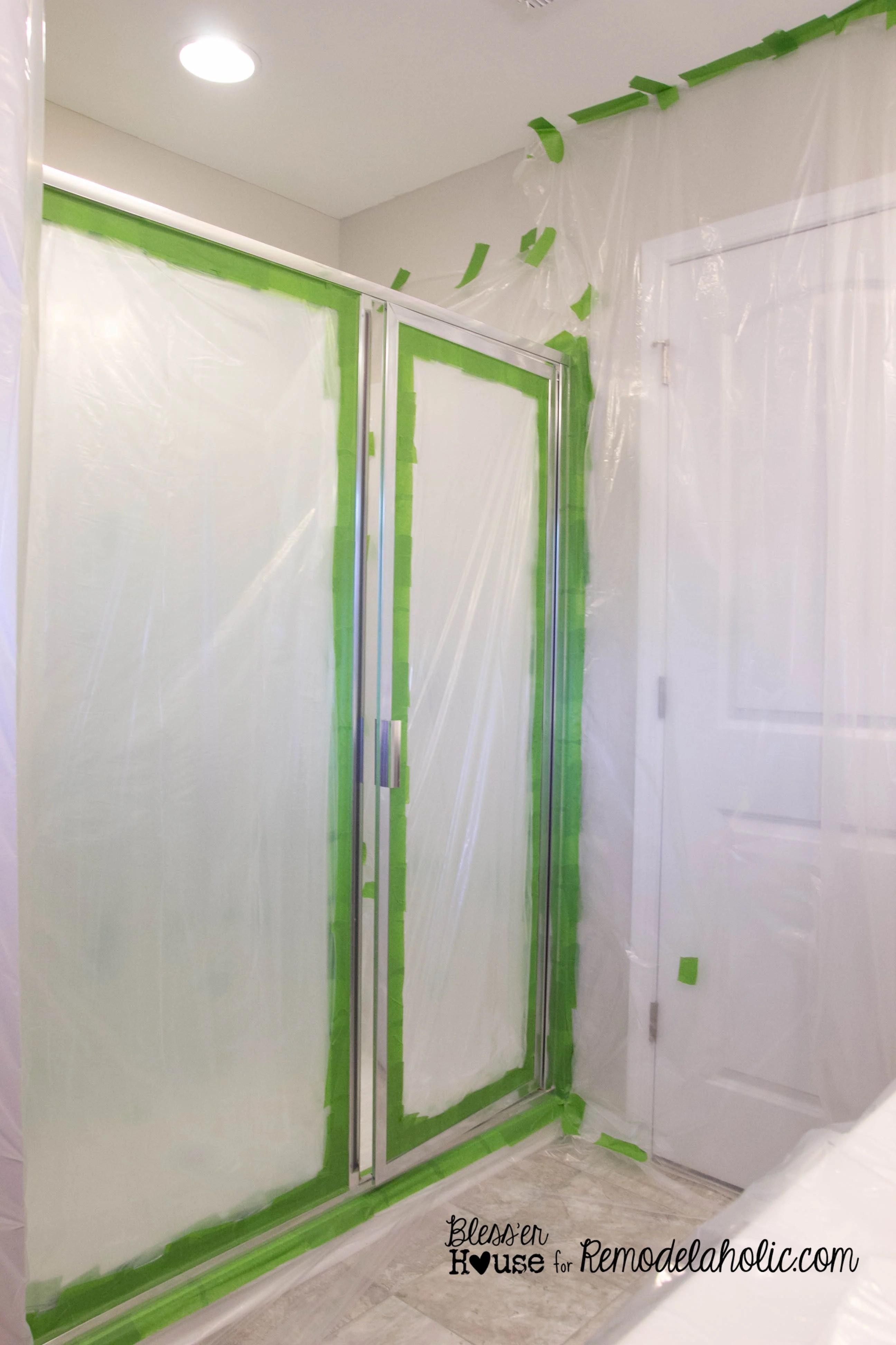 Remodelaholic DIY Industrial Factory Window Shower Door