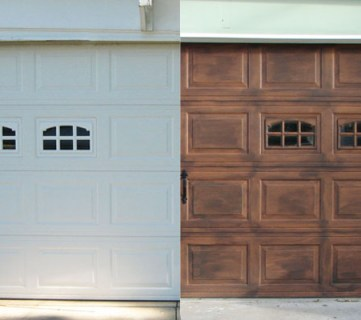 Faux Wood Carriage Garage Door Tutorial