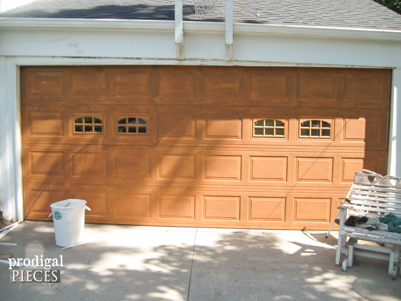 doors after products garage oak for kit door look wood giani paint red inc