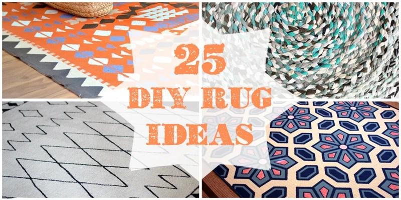 25 DIY Rugs @Remodelaholic