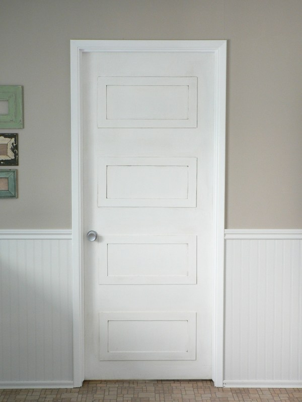 4 rectangle paneled door DIY update - For the Love of It