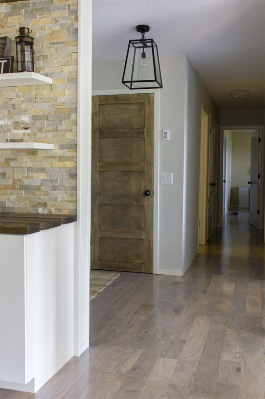 5 Panel Wood Door Tutorial by Jenna Sue Design Co featured on @Remodelaholic