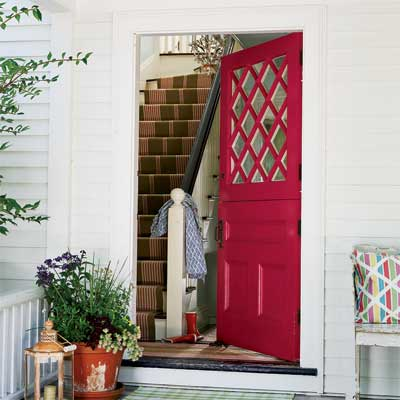 Beautiful Doors - entry door in Benjamin Moore Raspberry Glaze