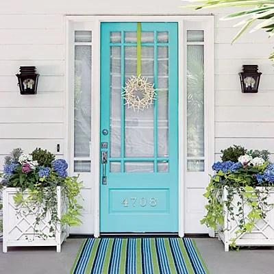 Beautiful Doors - entry door in Valspar Simply Aqua