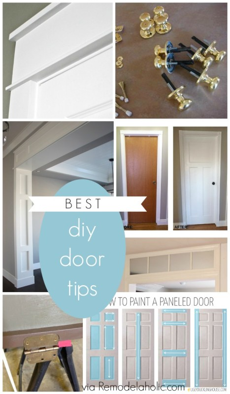 Best DIY Door Tips for framing, casing, installation @Remodelaholic