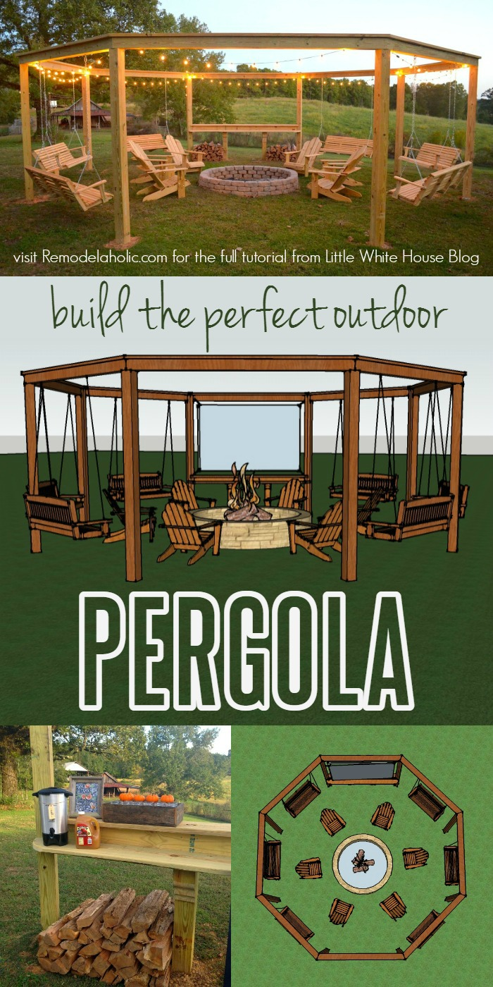 Remodelaholic  Tutorial Build an Amazing DIY Pergola and