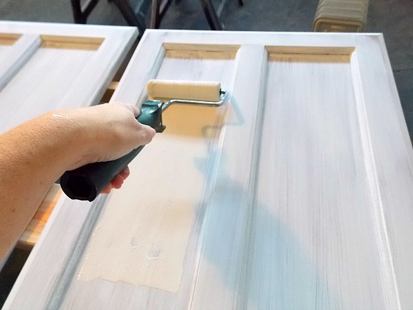 Cabinet Door Painting Tutorial by The Palette Muse featured on Remodelaholic