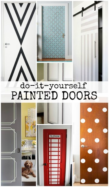 DIY Painted Door Ideas @Remodelaholic