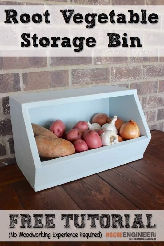 DIY Root Vegetable Storage Bin - Free Plans - Rogue Engineer