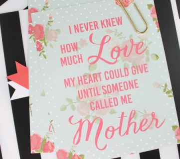 Mother's Day Print by Paperelli for Remodelaholic