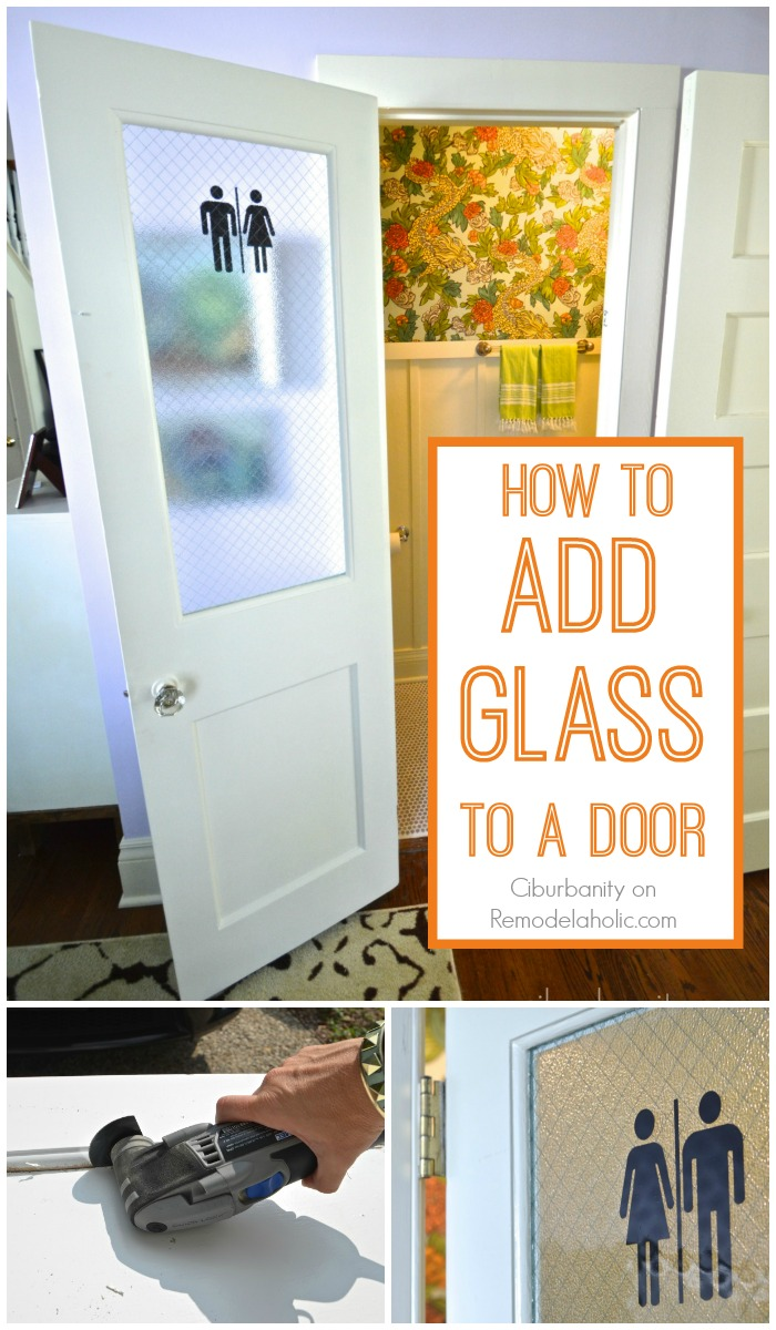 Remodelaholic how to add a glass pane to a wood door adding a glass pane to an old wood door diy tutorial planetlyrics Images