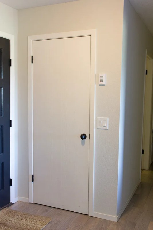 How to turn a hollow core door into a 5 panel door by Jenna Sue Design Co featured on @Remodelaholic