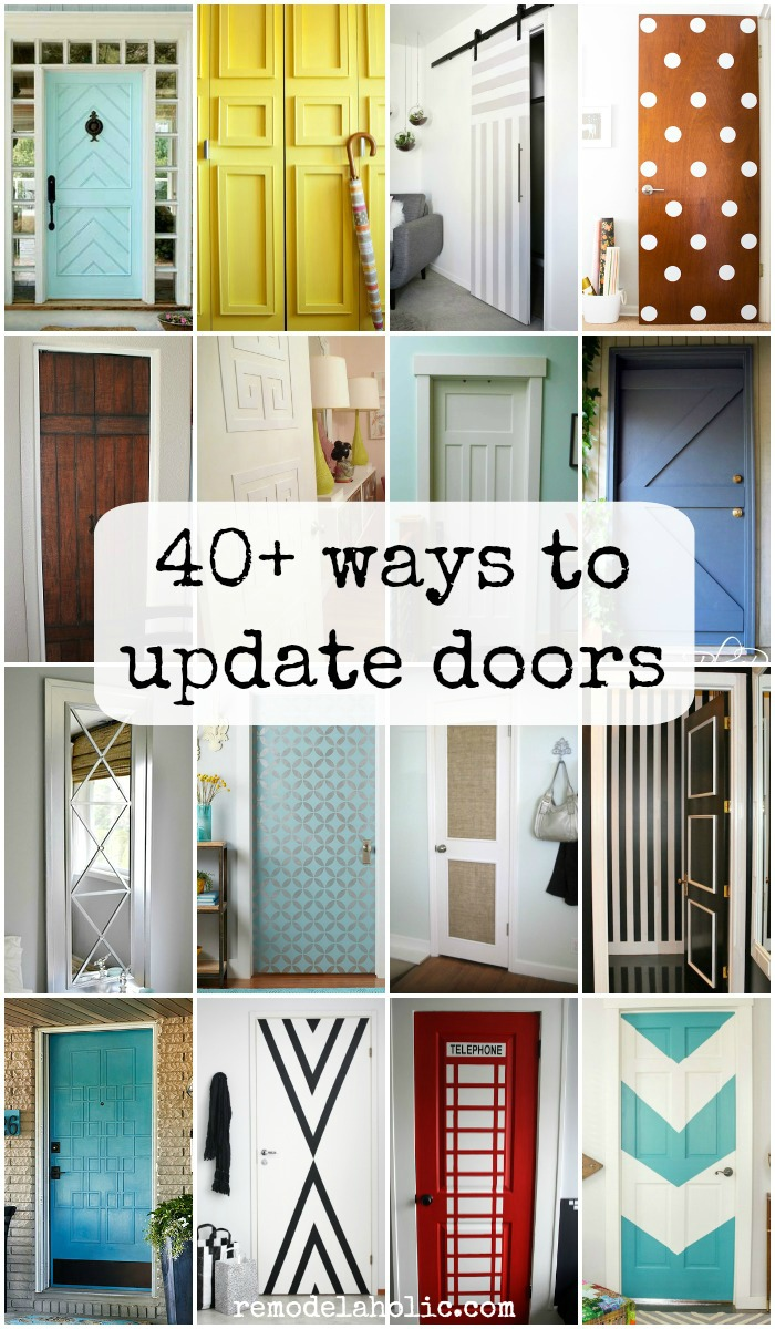 diy kitchen cabinet refacing ceiling fans for the remodelaholic | 40+ ways to update flat doors and bifold