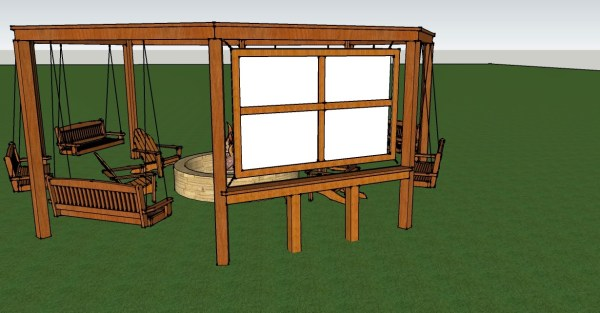 Pergola Tutorial with Optional Movie Screen by Little White House Blog featured on @Remodelaholic
