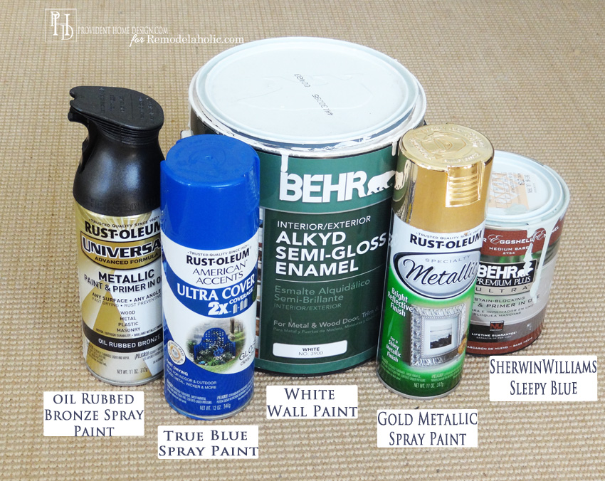 Supplies for DIY Abstract Painting