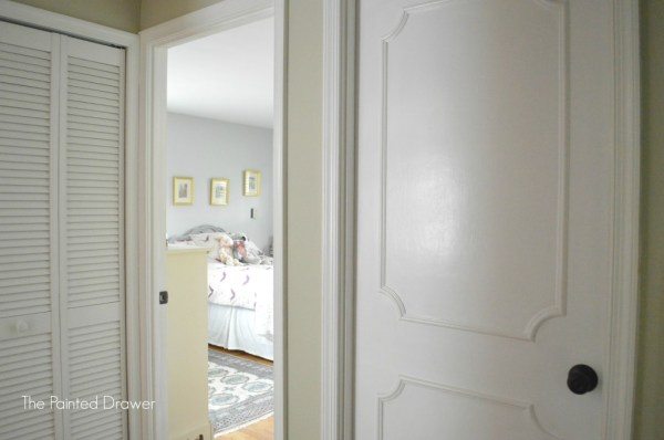 Turn Flat Doors into Gorgeous Paneled Doors by The Painted Drawer featured on @Remodelaholic