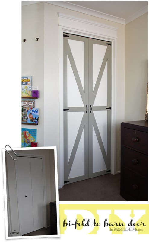 barn door overlay for pantry doors - The Painted Hive