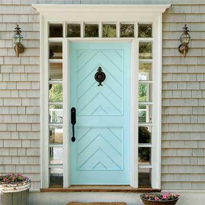 chevron trim front door inspiration - This Old House