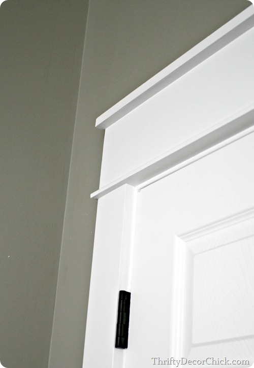 chunky thick craftsman style door trim - Thrifty Decor Chick