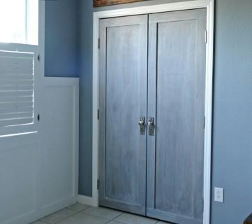Bifold Door Makeover into French Doors