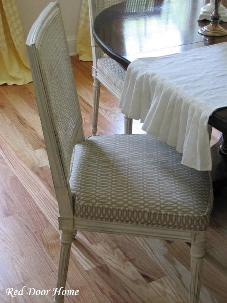 nailhead wingback chair drafting chairs remodelaholic | cane back dining makeover
