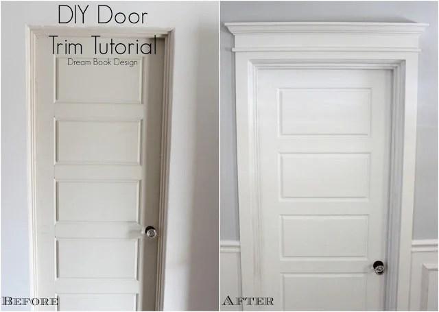 Attirant Diy Door Trim Tutorial   Dream Book Design