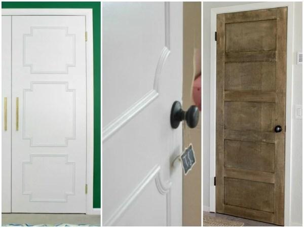 diy ways to update flat doors @Remodelaholic