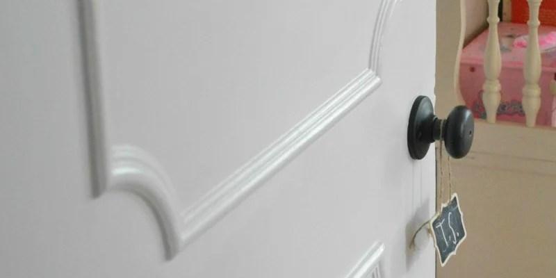 Make a Flat Door Look Like a Paneled Door & Remodelaholic   40+ Ways to Update Flat Doors and Bifold Doors