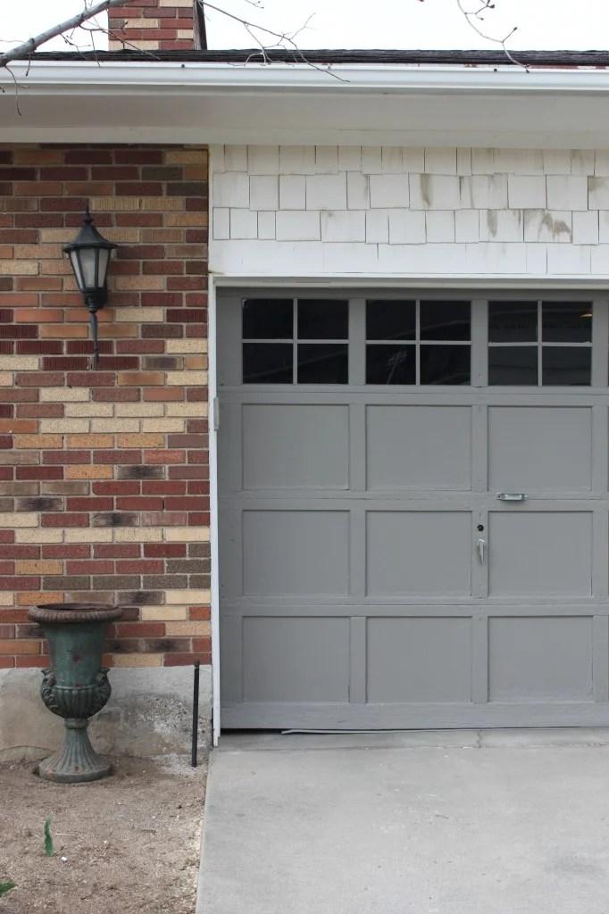 4 Men 1 Lady Garage Door Makeover Adding Trim To Windows 4Men1Lady