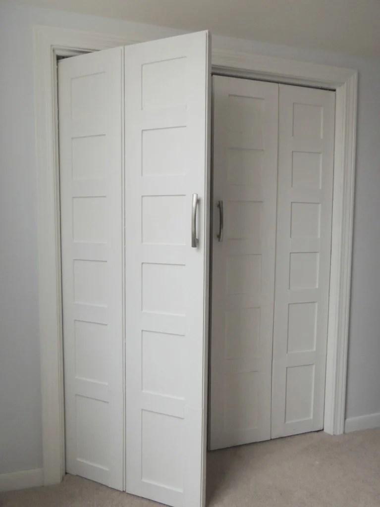 ... how-to-make-bifold-doors-into-french-doors- & Remodelaholic | 40+ Ways to Update Flat Doors and Bifold Doors