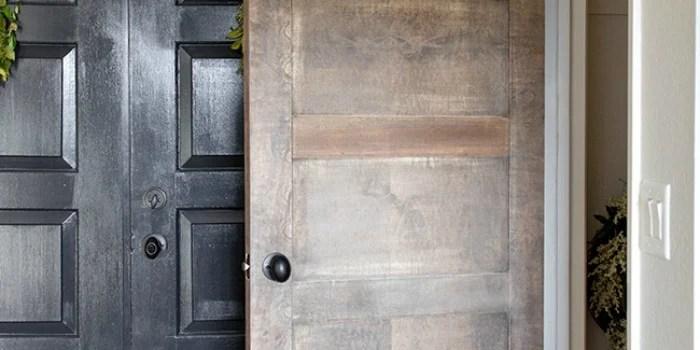 Remodelaholic 5 Panel Door From A Flat Hollow Core Door