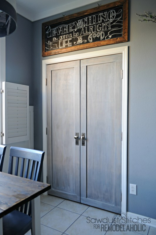 Remodelaholic Bifold Door Makeover Into French Doors
