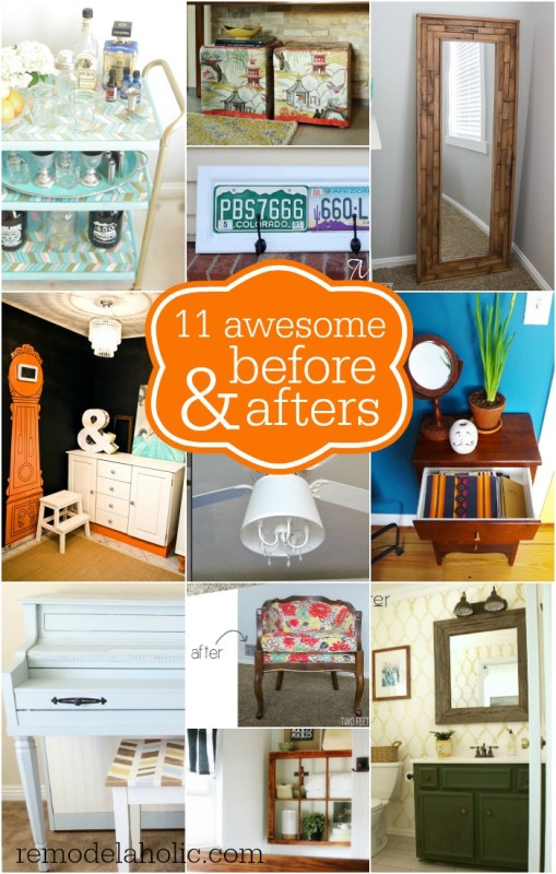 11 Awesome Before and After DIYs @Remodelaholic