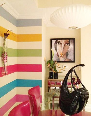 Rainbow Playroom Inspiration | Found on Sweet Peach Blog