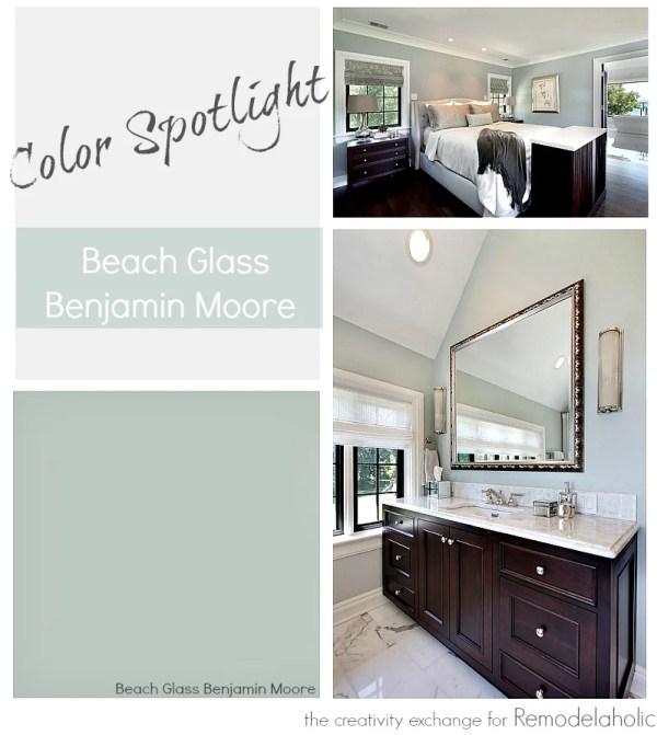 Remodelaholic Color Spotlight Benjamin Moore Beach Glass