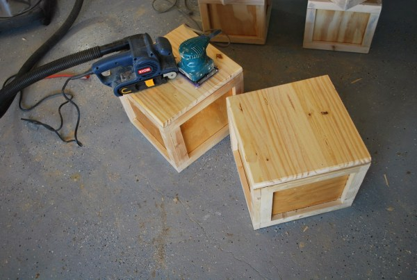 Building Block Seats with Storage for Childrens Playtable by ToolBox Divas for Remodelaholic