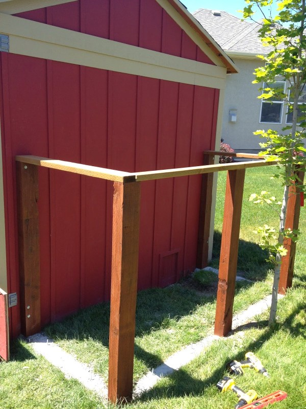 DIY Chicken Run with Coop and Storage Shed by Chalkboardblue featured on Remodelaholic